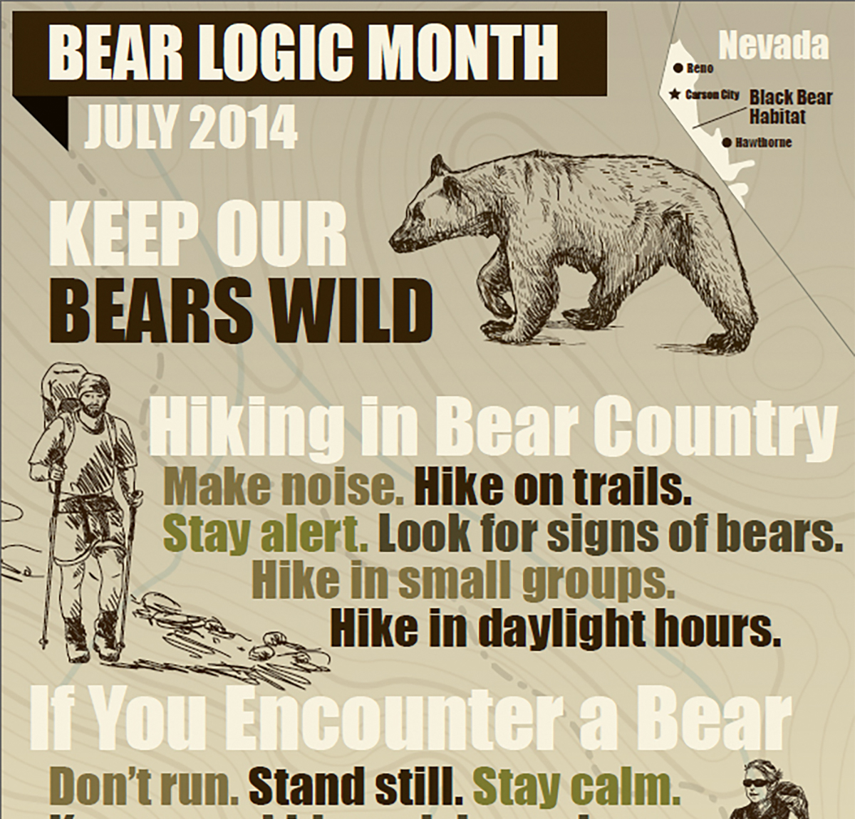 July is Bear Month - Hiking in Bear Country
